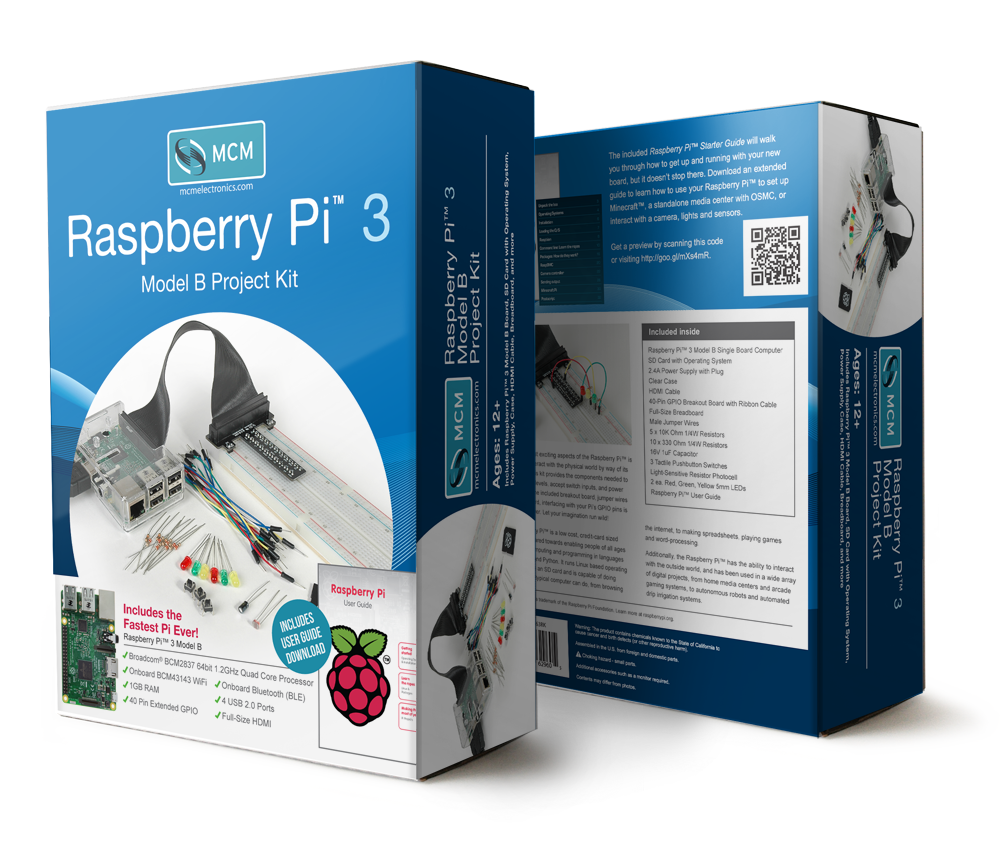 Raspberry Pi 3 Project Kit Box Design