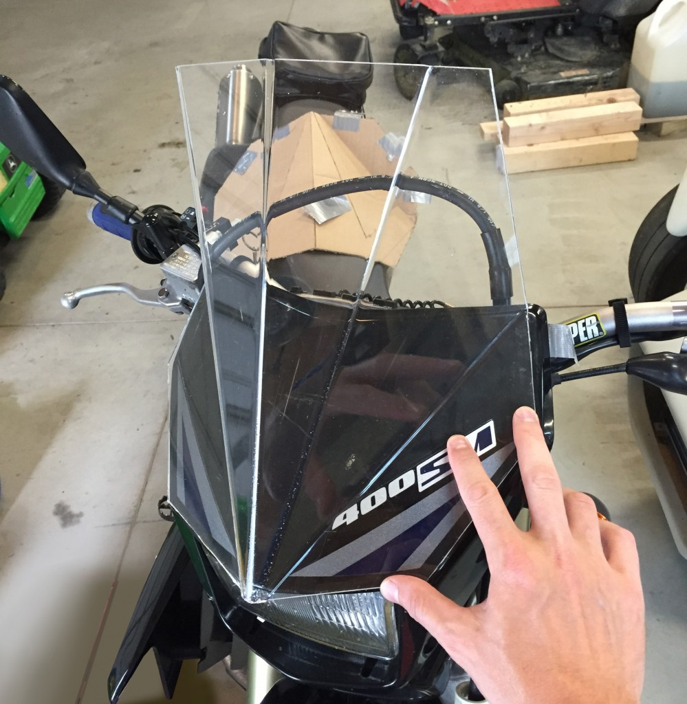 $6 Windscreen from Plexiglass