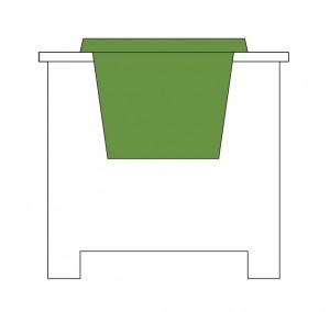 Planter in PVC Planter