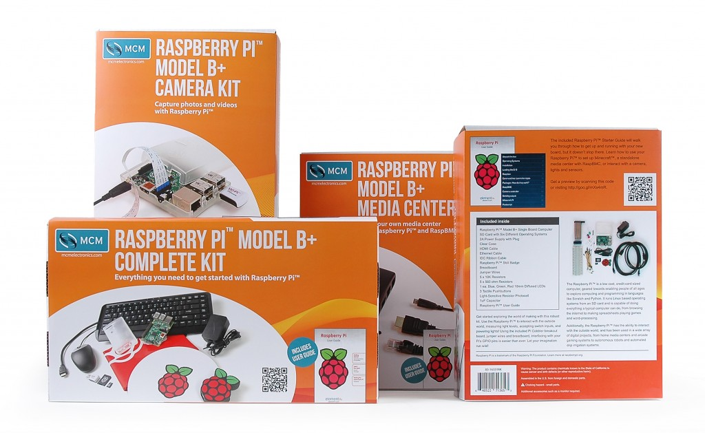 MCM Raspberry Pi Model B+ Kits