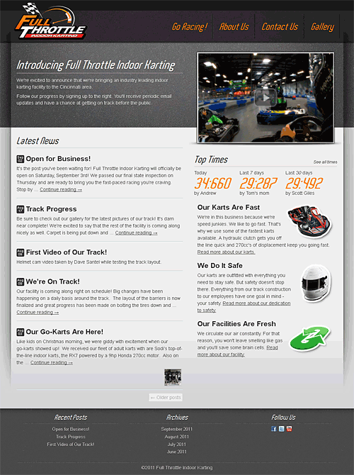 www.cincykarting.com screen shot