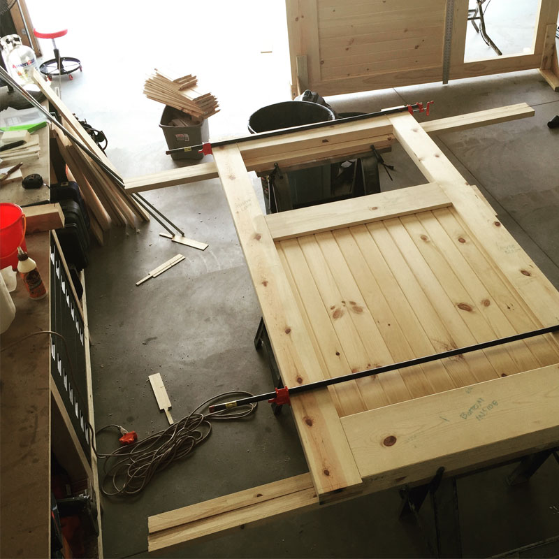 Carriage-door-glue-up