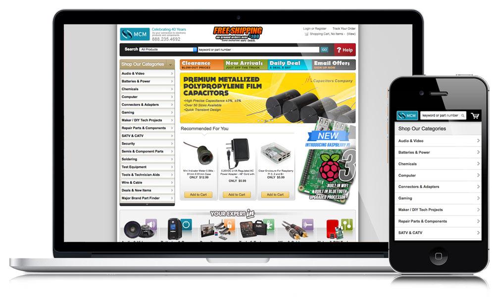 MCM Electronics Website