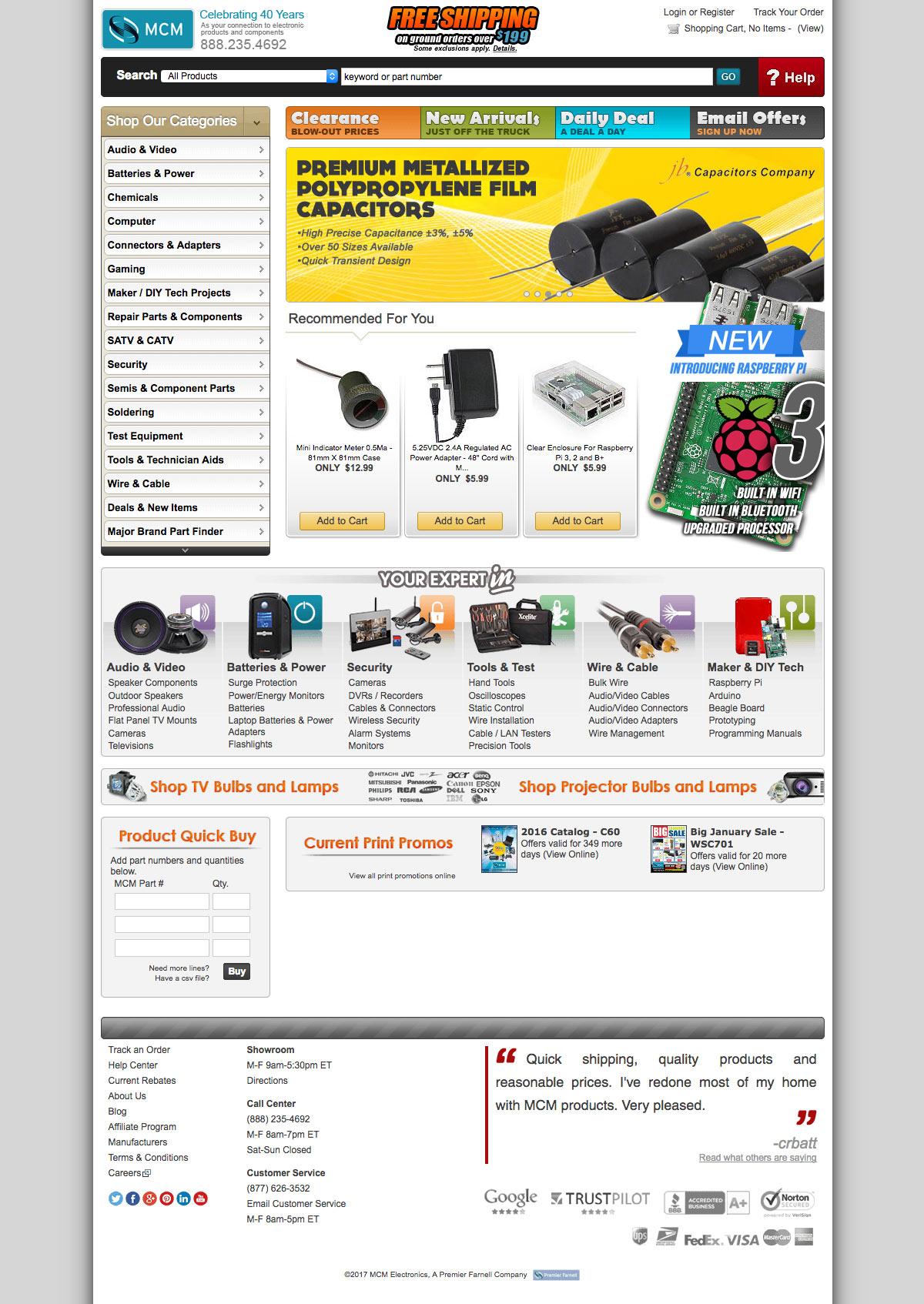 MCM Electronics Homepage