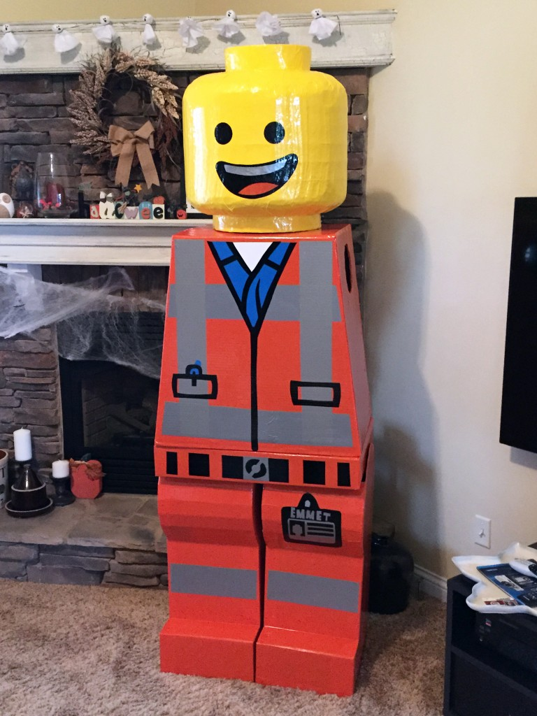 Emmet Lego Costume with Decals Applied