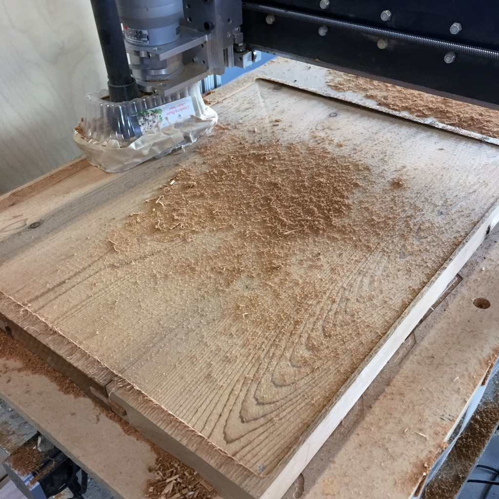 Milling both sides flat on the CNC router