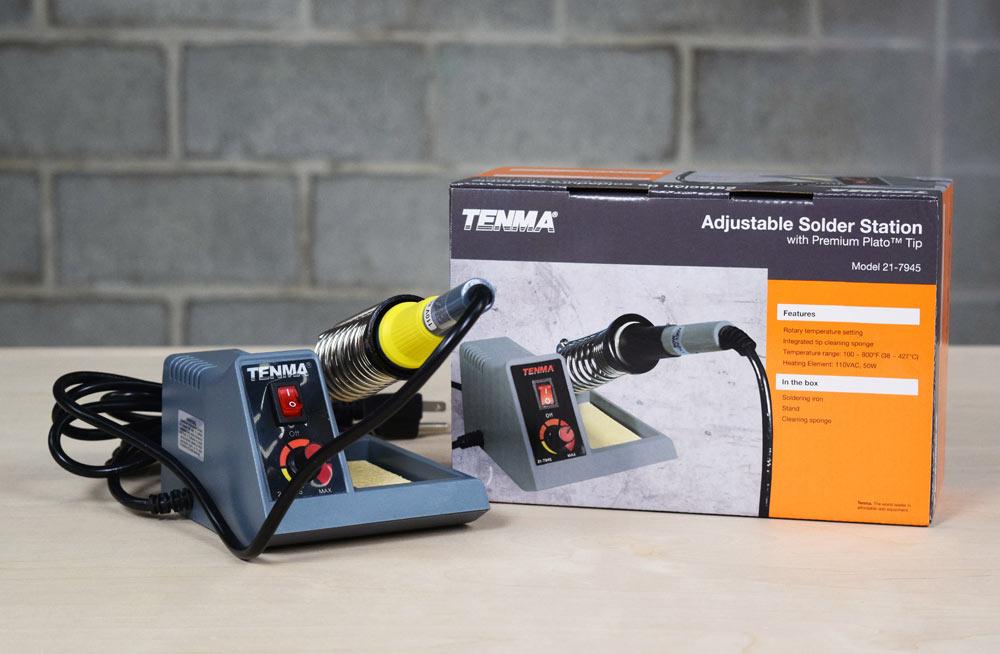 Tenma 21-7945 Adjustable Solder Station with Plato Tip