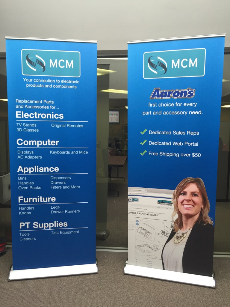 Aarons MCM Trade Show Banners