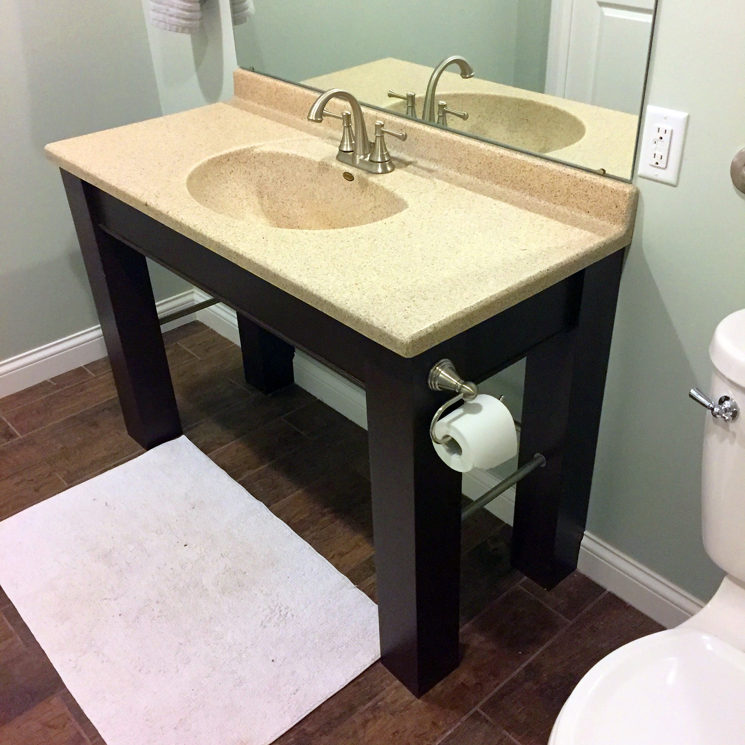 Make an ada compliant vanity for your bathroom christian moist for Wheelchair accessible sink bathroom
