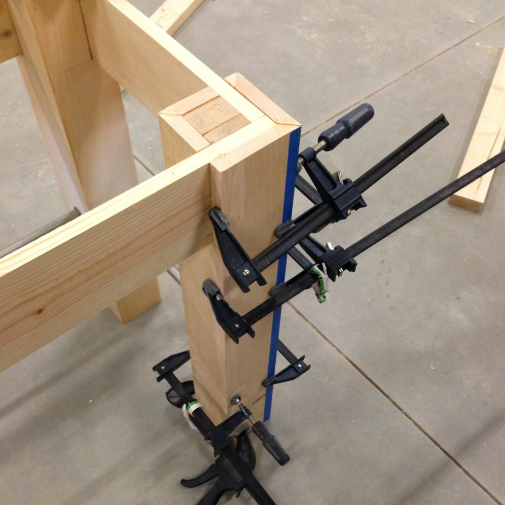 ADA Vanity Build Glue Up