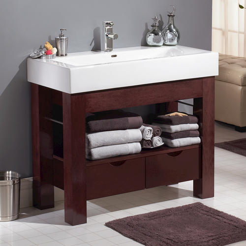 Cool  Bellezza Espresso Modern Double Sink Bathroom Vanity At Menards