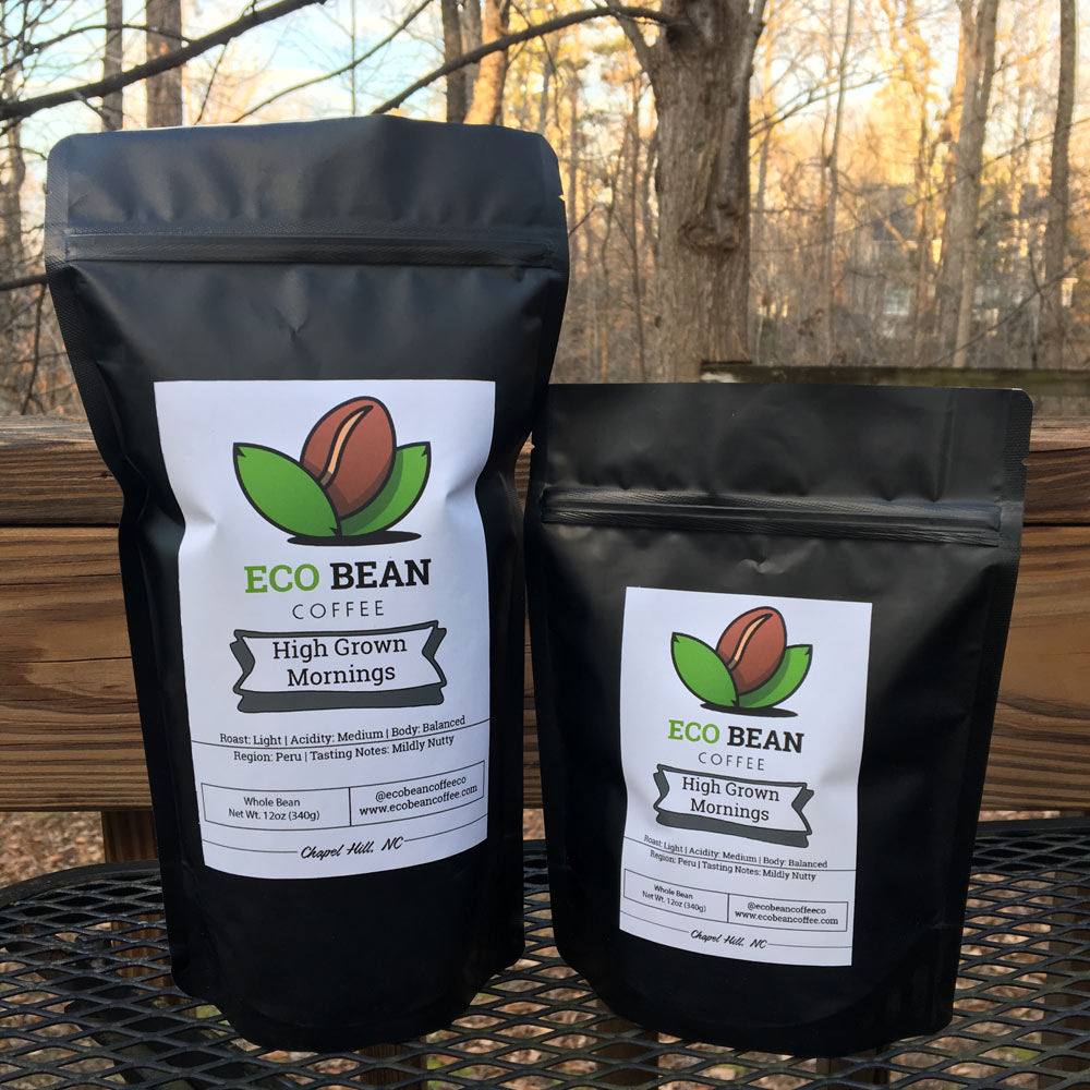 Eco Bean Coffee Logo Packaging