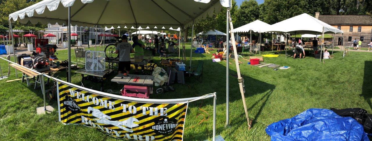 Boneyard Buildoff Tents